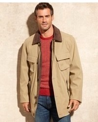 London Fog Coat Bunker Hill Corduroy Collar Barn Coat