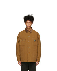 South2 West8 Orange Denim Coverall Jacket