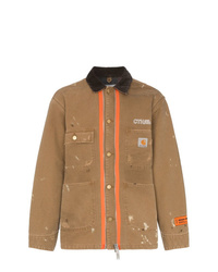 Heron Preston X Carhartt Wool Blend Paint Splatter Jacket