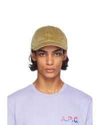 A.P.C. Beige Corduroy Charlie Hat