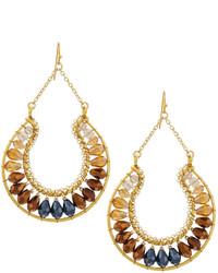 Nakamol Beaded Crystal Chain Drop Earrings