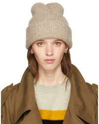 Beige cashmere watchman beanie medium 5363570