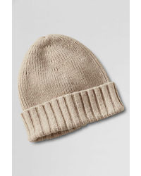 Lands' End Cashtouch Rib Knit Hat
