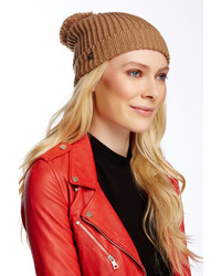 Ivanka Trump Engineered Rib Pom Beanie