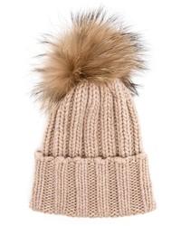 Inverni Fur Bobble Beanie