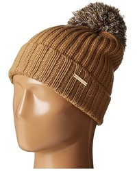 MICHAEL Michael Kors Michl Michl Kors Fisherman Rugby Cuff Hat With Self Knit Multicolor Pom Pom
