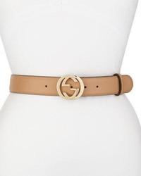 Gucci Wide Adjustable Gg Buckle Belt Camelia