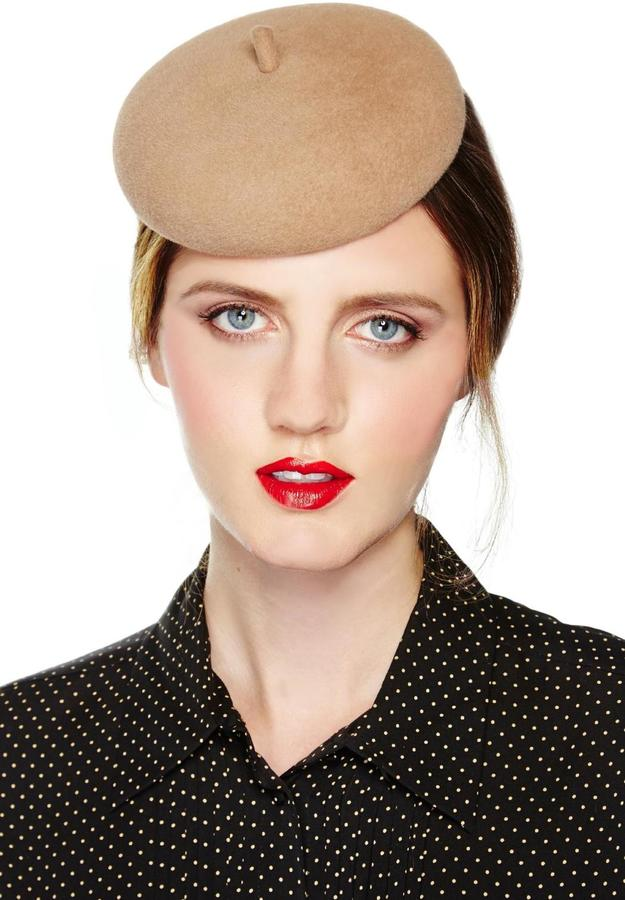 Good ... Leah C Couture Millinery Mini Beret Camel