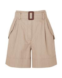 Brunello Cucinelli Belted Cotton Shorts