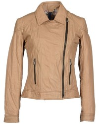 Tan biker jacket original 8876870