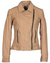 Tan biker jacket original 8876870