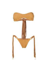 Fisico Fringed Bandeau Bikini Set