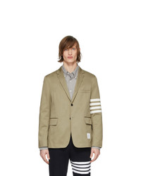 Thom Browne Beige Deconstructed 4 Bar Blazer