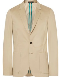 Beige soho slim fit brushed cotton suit jacket medium 3690656