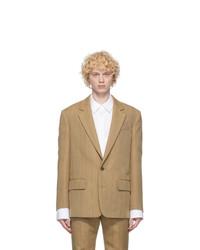 System Beige Stripe Wool Blazer