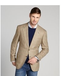 Mens Tan Sport Coat - Black Coat