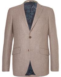 Brown slim fit wool blend blazer medium 3690539