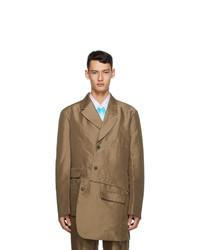 Comme Des Garcons Homme Plus Khaki Double Twill Gart Treated Blazer