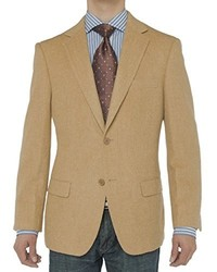 LN LUCIANO NATAZZI Luciano Natazzi Luxurious Camel Hair Blazer Coat Modern Fit Suit Jacket