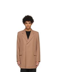 Jil Sander Pink Fluid Wool Tailored Blazer