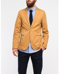 General Assembly Sun Washed Blazer In Khaki