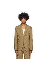 Helmut Lang Tan 2 Button Blazer