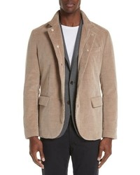 Eleventy Trim Fit Cotton Cashmere Corduroy Jacket