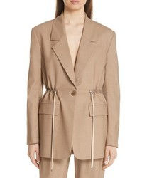 Tibi Tropical Drawstring Waist Jacket