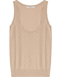 Carven Textured Sleevess Top With Cotton