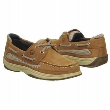 5e08a008fe ... Tan Boat Shoes Sperry Top Sider Kids Lanyard Boat Shoe Pregrade School  ...