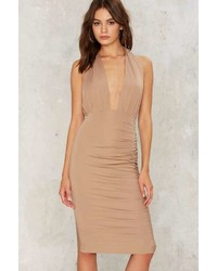 Factory Charlize Plunging Midi Dress