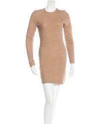 Kimberly Ovitz Striped Bodycon Dress