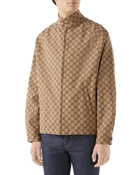 Gucci Gg Canvas Bomber Jacket