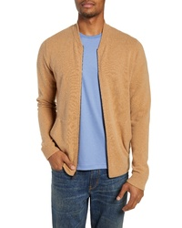 Nordstrom Men's Shop Merino Wool Blend Bomber Sweater