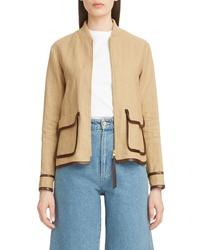 Loewe Saharienne Linen Cotton Jacket