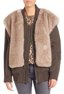 be145ff0f Helmut Lang Two In One Faux Fur Vest Bomber Jacket, $1,195 | Saks ...
