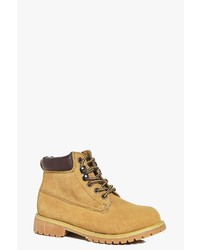 Boohoo Boys Lace Up Hiker Boots
