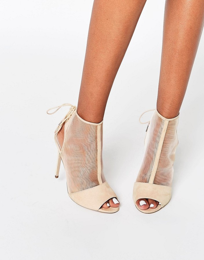 ae5a43042c Asos Elizabeth Peep Toe Mesh Shoe Boots | Where to buy & how to wear
