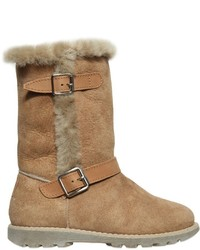 Il Gufo Buckled Shearling Boots