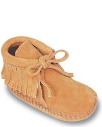 Minnetonka Infantstoddlers Fringe Bootie Brown Suede Boots