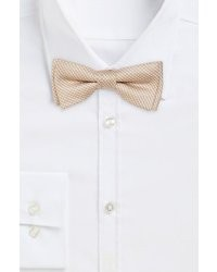 Hugo Boss Bow Tie Fashion Cotton Silk Diamond Print Bow Tie Medium Grey