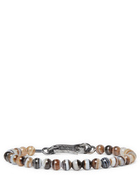 Bottega Veneta Agate Oxidised Silver Bracelet