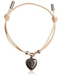 Dolce & Gabbana Waxed Strap Metal Chain Bracelet