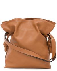 Loewe Flaco Knot Bucket Bag Tan