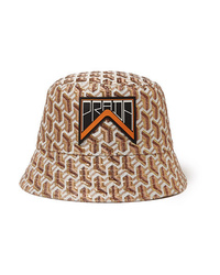 Prada Appliqud Metallic Jacquard Bucket Hat