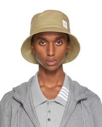 Thom Browne Beige Mackintosh Classic Bucket Hat