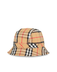Burberry Beige Vintage Check Cotton Bucket Hat