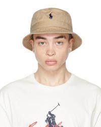 Polo Ralph Lauren Khaki Cotton Bucket Hat