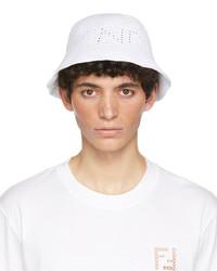 Fendi White Cotton Bucket Hat