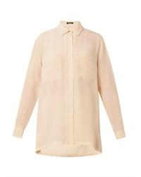 Freda Patch Pocket Silk Blouse